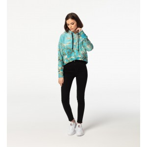 Almond Blossom CROPPED Hoodie