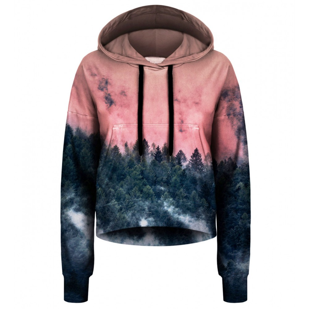 Forest CROPPED Hoodie